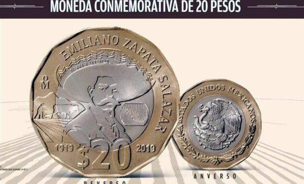 Ponen en circulación moneda que conmemora a Zapata