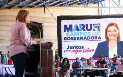 """""""Eres una mujer transparente y sobre todo muy valiente, serás la primera gobernadora""""; respalda la CONATRAM a Maru"""