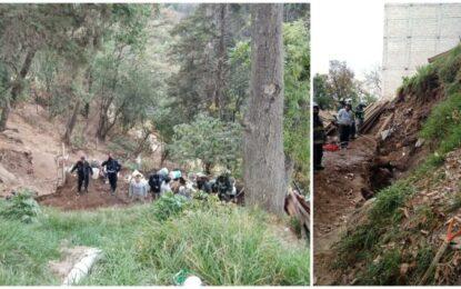 Sepulta deslave en CDMX a 3 trabajadores; 2 muertos y uno desaparecido