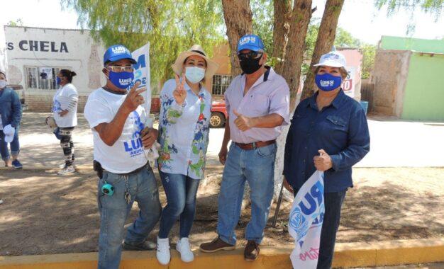 Jenny Figueroa en acción por el municipio de Allende
