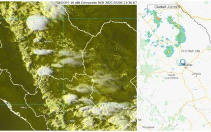 Prevén esta noche lluvia, descargas y hasta granizo en 10 municipios