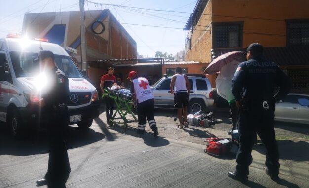 Joven resulta lesionado en choque sobre el Boulevard