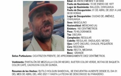 Solicitan ayuda para localizar a hombre deportado como ausente en Jiménez