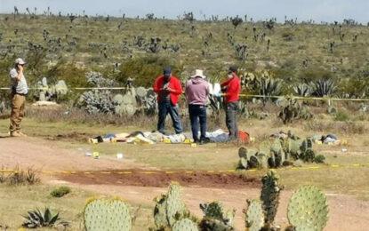 Localizan 9 cadáveres en terreno de Zacatecas