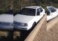 Se accidenta cerca de los Jales y deja el vehículo abandonado