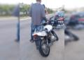 Impacta contra motociclista en la Oleyda