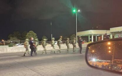 Fueron 7 los militares detenidos en el Puente Libre