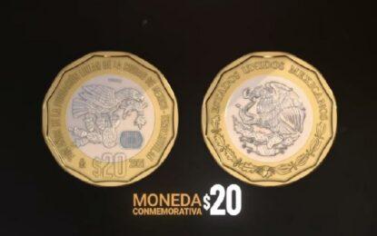 Seis monedas por 500 años de Tenochtitlán y 200 de Independencia