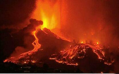 VÍDEO: Emergió nueva erupción del volcán Cumbre Vieja en España