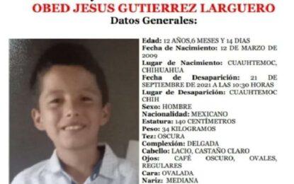 Escapó niño de su casa en Cuauhtémoc; lo buscan