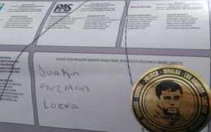 """En Badiraguato votaron por """"El Chapo"""""""