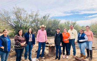 Entrega Jenny Figueroa pozo de agua potable en comunidad Felipe Ángeles