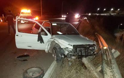 Fuerte accidente sobre el perimetral norte; resultaron personas lesionadas
