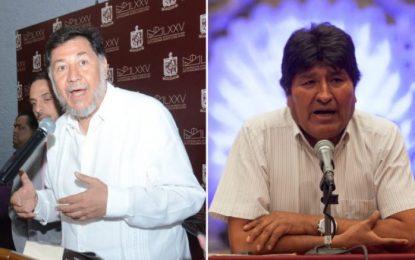 Noroña pide cooperar con 159 mil pesos al mes para mantener a Evo Morales