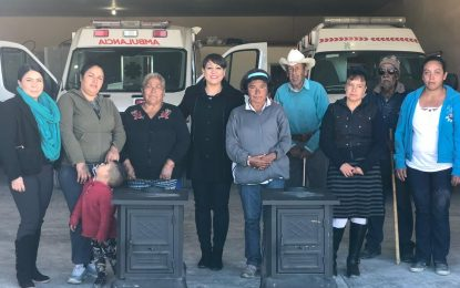 Entregó alcaldesa de Allende 128 calentones de leña a familias vulnerables