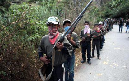 Urgen intervención de Gobierno por niños armados