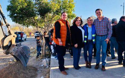 Alcaldesa de Allende da banderazo a más obras en comunidad de San Juan