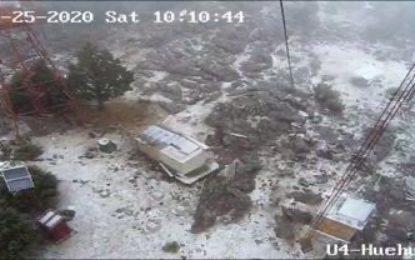 Comienzan a registrarse nevadas en Sierra de Durango
