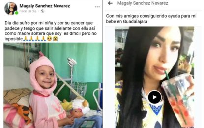 Falsa madre se aprovecha de niña fallecida por cáncer para recaudar dinero