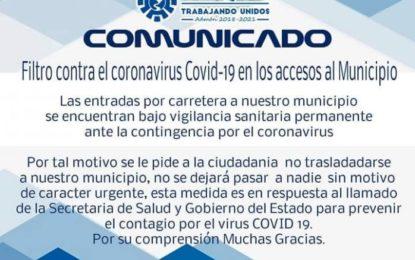 No se dejará pasar a nadie advierten en Urique por coronavirus