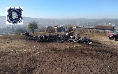Muere al incendiarse su casa en Largo Maderal
