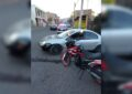 Choque en la col. Juárez deja un motociclista lesionado