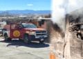 VIDEO: Bomberos acuden al Fracc. Quijote ante incendio en finca