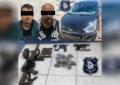 Ejercen acción penal contra detenidos en auto robado; traían armas y droga