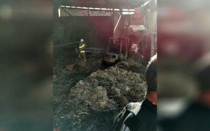 Arden dos toneladas y media de pastura en incendio de bodega