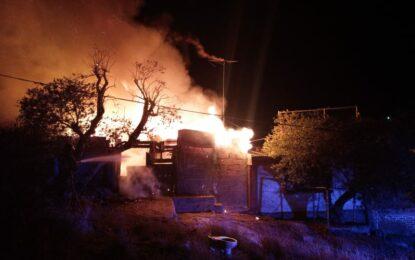 Se incendia domicilio en la Héroes