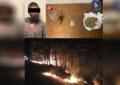 Detienen a hombre, acusado de provocar un incendio forestal en Guachochi