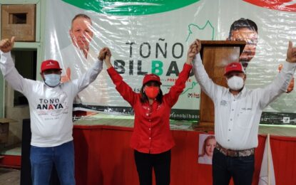 Arrancan campaña Toño Anaya y Toño Bilbao candidatos del PRI en Santa Bárbara