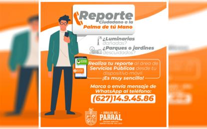 """Pone en marcha el Alcalde César Peña la campaña """"Reporte urbano a la palma de tu mano"""""""