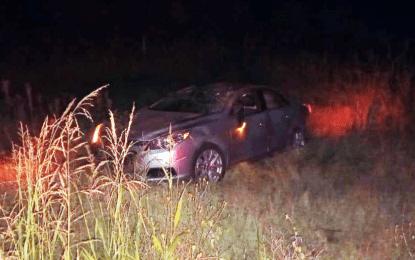 Volcadura cerca del CERESO dejó 2 lesionados
