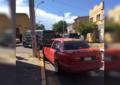 Choque en la Av. Juan Rangel deja daños materiales